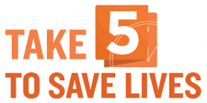 Logo for Take 5 to save lives